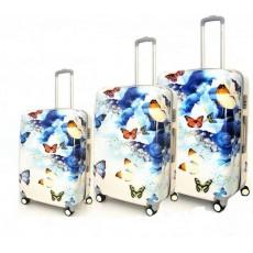 Set de 3 valises papillon