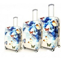Set de 3 valise papillon