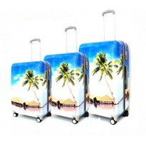 Set de 3 valises coque rigide plage