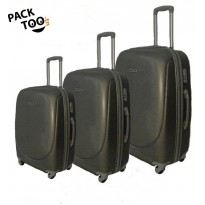 Set de 3 valises coque rigide noir