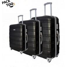 Set de 3 valises coque rigide noir