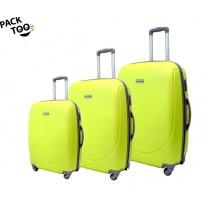 Set de 3 valises coque rigide vert