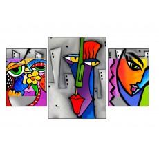 3 Tableaux   composition 3 Femmes