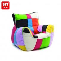Pouf fauteuil multicolore