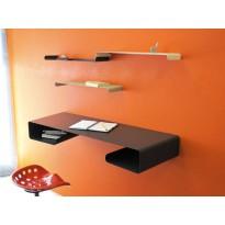 Pack bureau mural et 3 étagères Moebius