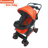 Poussette Best Baby orange noir