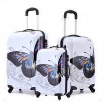 Pack de 3 valises coque rigide Butterfly