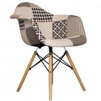 Chaise DAW Patchwork Noir et Blanc