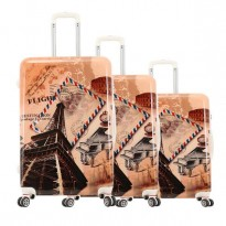 Set de 3 valises coque rigide Tour Eiffel