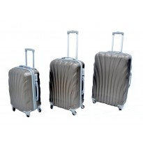 Set de 3 valises coque rigide gris