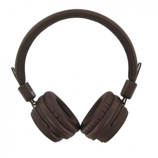 BEEWI Bluetooth + filaire casque chocolat