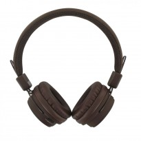 BEEWI Bluetooth + filaire casque chocolat