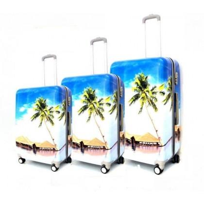 Set de 3 valises coque rigide plage
