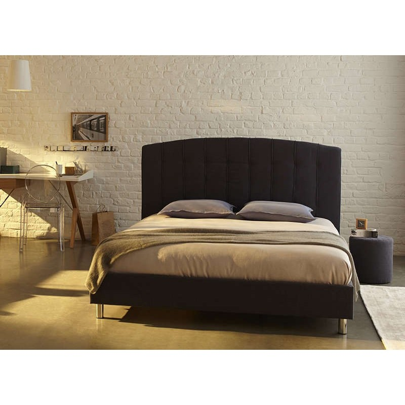Lit adulte pas cher anthracite luta packtoo - Decoration chambre adulte pas cher ...