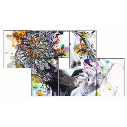 6 Tableaux | composition Femme