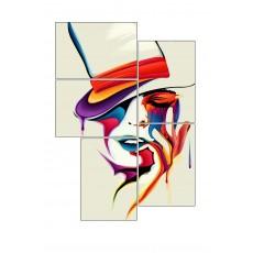 5 Tableaux | composition Femme au chapeau