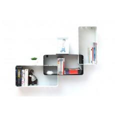 Lot de 3 étagères design blanche et noire modulables klixo