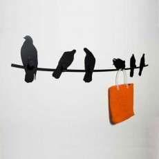 Porte manteau design Birds on wire