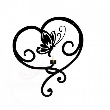 Applique mural Coeur Papillon