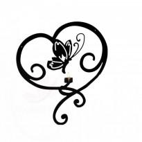 Applique murale Coeur Papillon