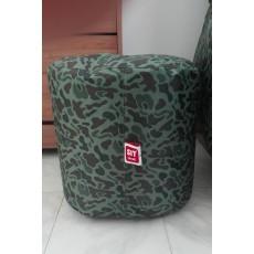 Pack pouf slope + pouf d'appoint design militaire