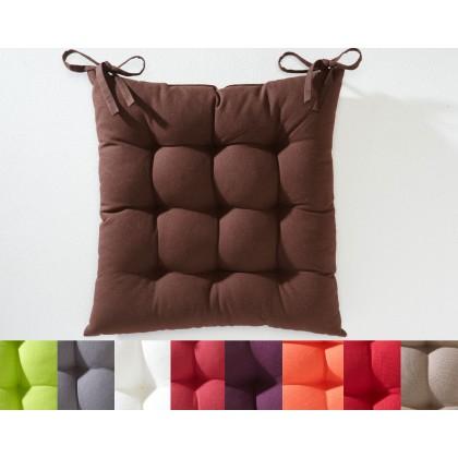 Galettes de chaise carrée capitonné ( lot de 2)