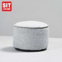 Pouf d'appoint /Pose pied scandinave - cylindrique- Fait main