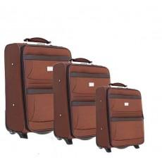 Set of 3 semi-rigid suitcases
