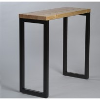 Table haute industrielle 120x45 cm