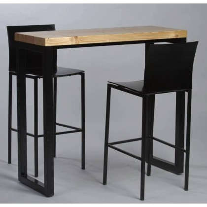 table haute industrielle 120x60 cm packtoo. Black Bedroom Furniture Sets. Home Design Ideas