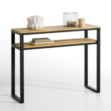 Console, red woo and steel , Hiba