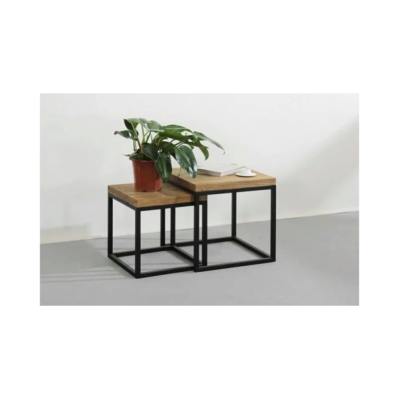 2 tables gigognes hiba - Table basse hiba ...