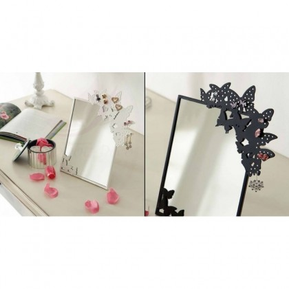 porte bijoux miroir papillon packtoo. Black Bedroom Furniture Sets. Home Design Ideas