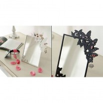 Porte bijoux miroir papillon