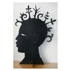 Porte bijoux tête-afro