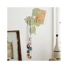 Patère Porte bijoux mural feuilles petit modèle