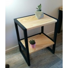 Table d'appoint - Table de chevet en bois HIBA