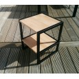 Table de chevet en acier bois HIBA