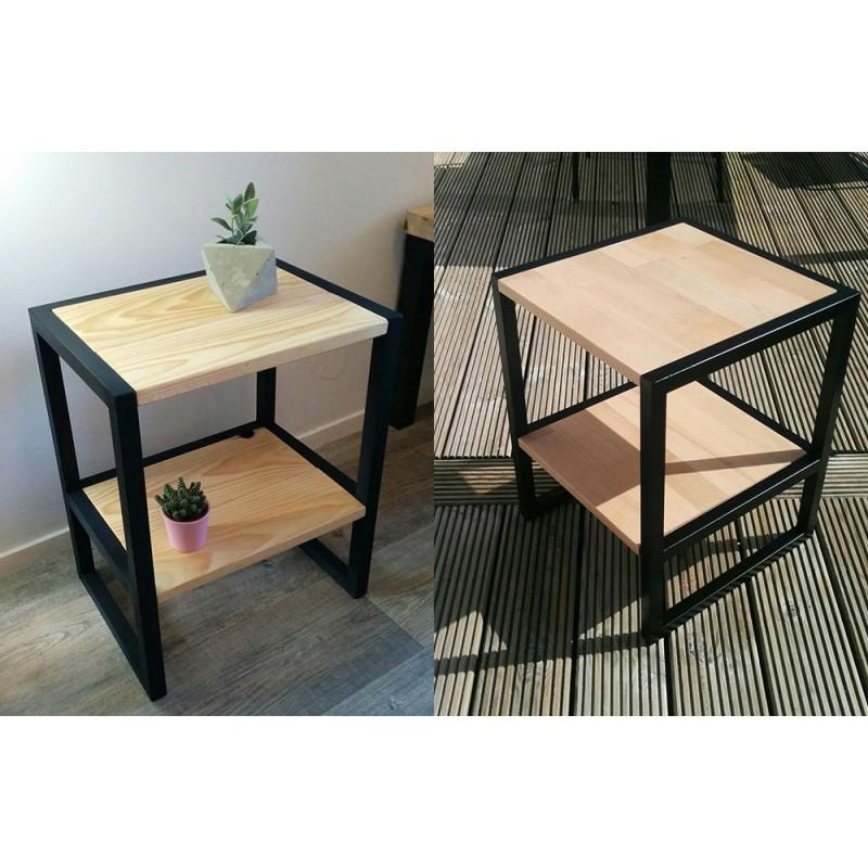 Side Table Wooden Bedside Table Hiba