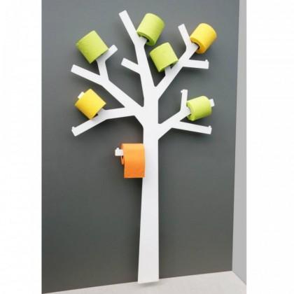 Réserve papier wc design arbre