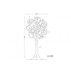 Porte manteau Barbados (design arbre)