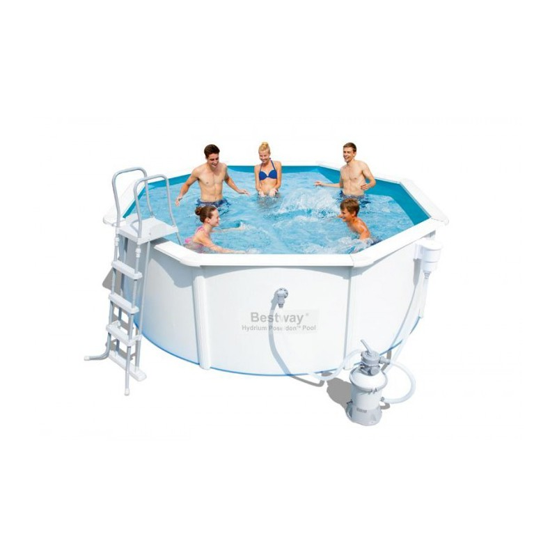Piscine bestway acier piscine en acier ovale bestway pas for Piscine chez auchan