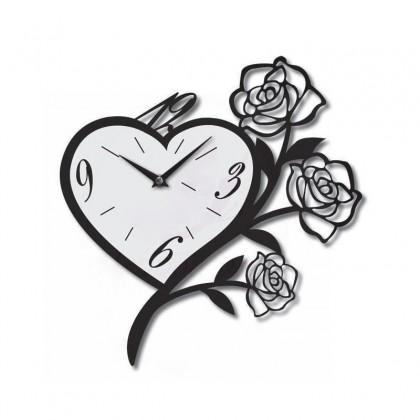 Horloge coeur de fleur