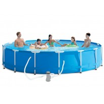 Pack inflatable pools (H: 83cm x Ø: 457cm) + accessories