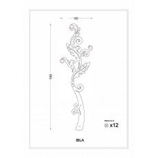 Porte manteau Ibla (design fleur)
