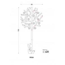 Porte manteau Riga (design arbre)