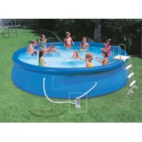 Pack inflatable pools (H: 91cm x Ø: 366cm) + accessories