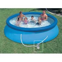 Pack piscines gonflables (H:76cm x Ø:366cm) + accessoires