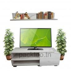 Pack Etagère murale Skadu + Meuble TV Casa