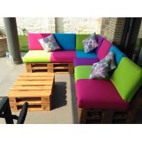 Multicolor garden palette corner